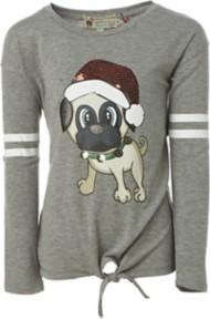 Grade School Girls' Poof! Festive Dog Shirt