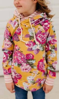 Grade School Girls' Ampersand Ave Double Hooded Sweatshirt