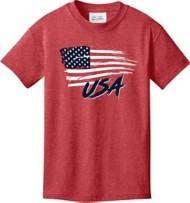 Youth Boy's Spectrum Rugged Flag Short Sleeve Shirt