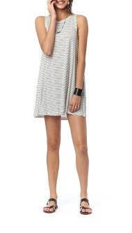 Women's Lagaci Stripes To summer Swim Dress Cover Up