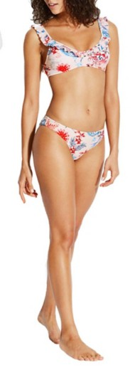 Women's Seafolly Water Garden Over The Shoulder Ruffle Bralette Bikini Top