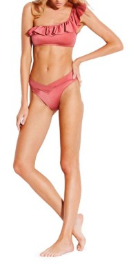 Women's Seafolly Shine On One Shoulder Bikini Top
