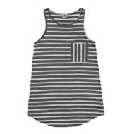 Women's Lagaci High Tide Stripe Swim Dress Cover-Up