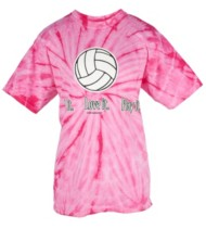 Women's Tandem Tie Dye Volleyball T-Shirt