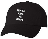 Women's Puppies Make Me Happy Baseball Cap
