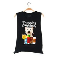 Women's Puppies Make Me Happy Brunch Tank