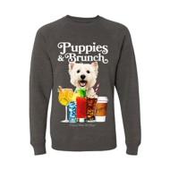 Women's Puppies Make Me Happy Puppies & Brunch Crewneck Sweatshirt
