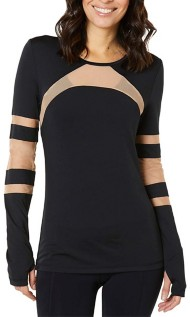 Women's Shape Cage Mesh Long Sleeve Shirt