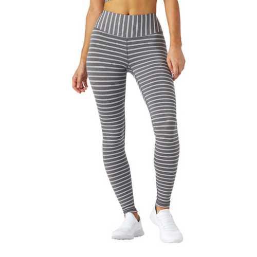 Charcoal Melange White Stripe