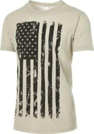 Men's Pima Vertical Flag Short Sleeve Shirt