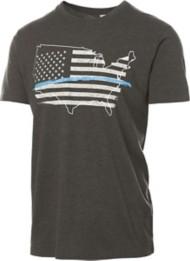 Men's Pima Blue Line Short Sleeve Shirt