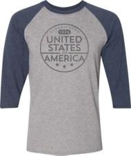 Men's Spectrum USA Baseball 3/4 Sleeve Shirt