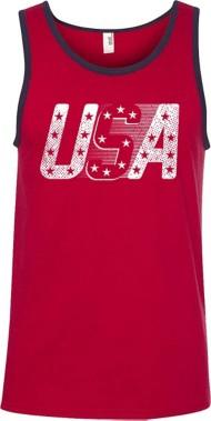 Men's Spectrum USA Stars Tank