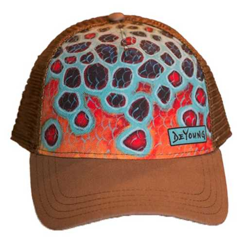 Deyoung Brown Flank-Orange Trucker Hat