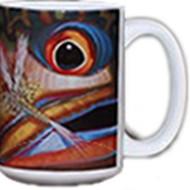 Coffee Mug Brook Trout Fish Face