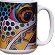 Coffee Mug Brown Trout Fish Face