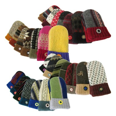 Northland Woolens Twice Baked Cable Cord Mittens