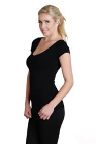 Women's Nikibiki Cap Sleeve Scoop Neck T-Shirt
