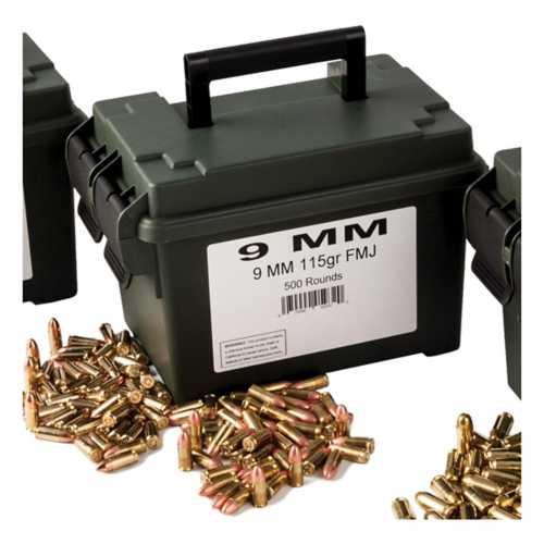 Scheels Outfitters 9mm 115gr Fmj Ammo Can 500ct Scheels Com