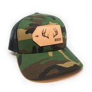 Hooked And Tagged Buck Antler Patch Hat