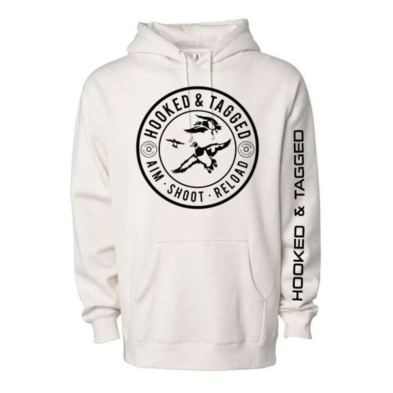 Hooked & Tagged Aim. Shoot. Reload. Hoody