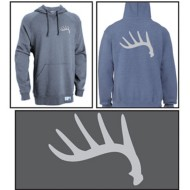 Men's Area Code Art Whitetail Shed Sweatshirt Black Heather