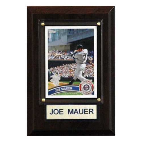 C and I Collectables Minnesota Twins Joe Mauer 4X6 Plaque