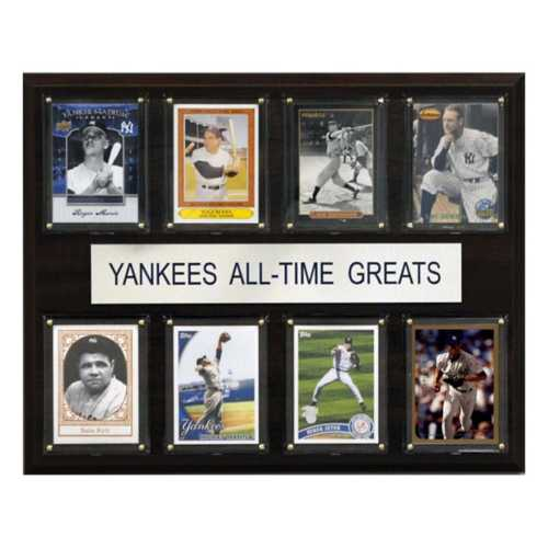 C and I Collectables New York Yankees All Time Greats Plaque