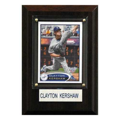 C and I Collectables Los Angeles Dodgers Clayton Kershaw 4X6 Plaque