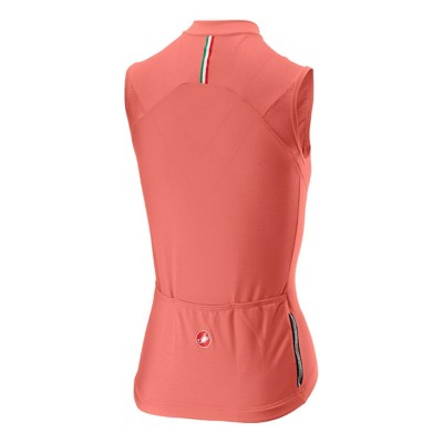 Women's Castelli Promessa Sleeveless Full Zip Cycling Jersey