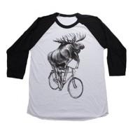 Men's Dark Cycle Moose on a Bicycle Reglan T-Shirt