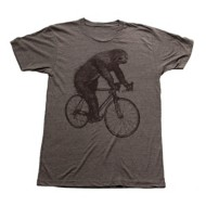 Men's Dark Cycle Sloth on a Bicycle T-Shirt