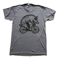 Men's Dark Cycle Pig on a Bicycle T-Shirt