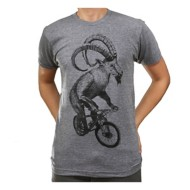 Men's Dark Cycle Goat on a Bicycle T-Shirt