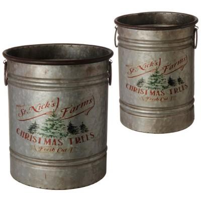 Raz Imports Metal Bucket