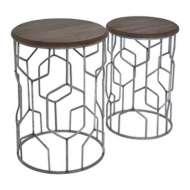 Crestview Collection Pulaski Geometric Metal Table