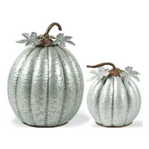 K & K Interiors Metal Pumpkin