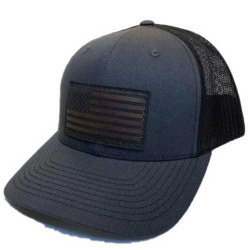 Men's REB Designs Leather Flag Patch Hat