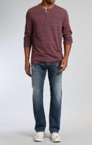 Men's Mavi Zach Straight Leg Ripped Vintage Jean