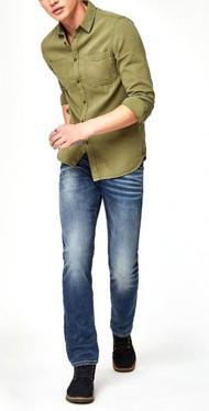 Men's Mavi Zach Brushed Straight Leg Jeans
