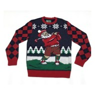 Men's Ugly Christmas Sweater Santa Golf Sweater