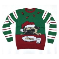 Men's Ugly Christmas Sweater Pug Sweater