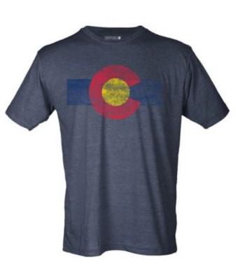 Men's Republic Of Colorado Fat Single Stripe T-Shirt