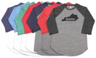 Women's Home State Apparel Raglan 3/4 Sleeve Shirt