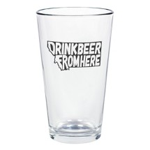 Home State Apparel Drink From Here Glass