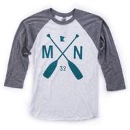Adult Sota Clothing MN Paddle Raglan Baseball 3/4 Sleeve Shirt