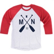 Adult Sota Clothing MN Ball Park Raglan 3/4 Sleeve Shirt