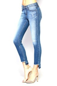 Women's Flying Monkey Step Back Let Out Hem Mid-Rise Jean