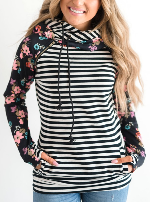Black Stripe Floral