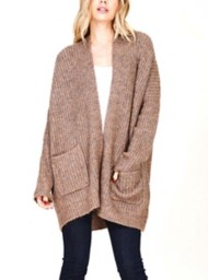 Women's Staccato Fluffy Cardigan Sweater